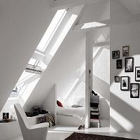 White Velux frame finish